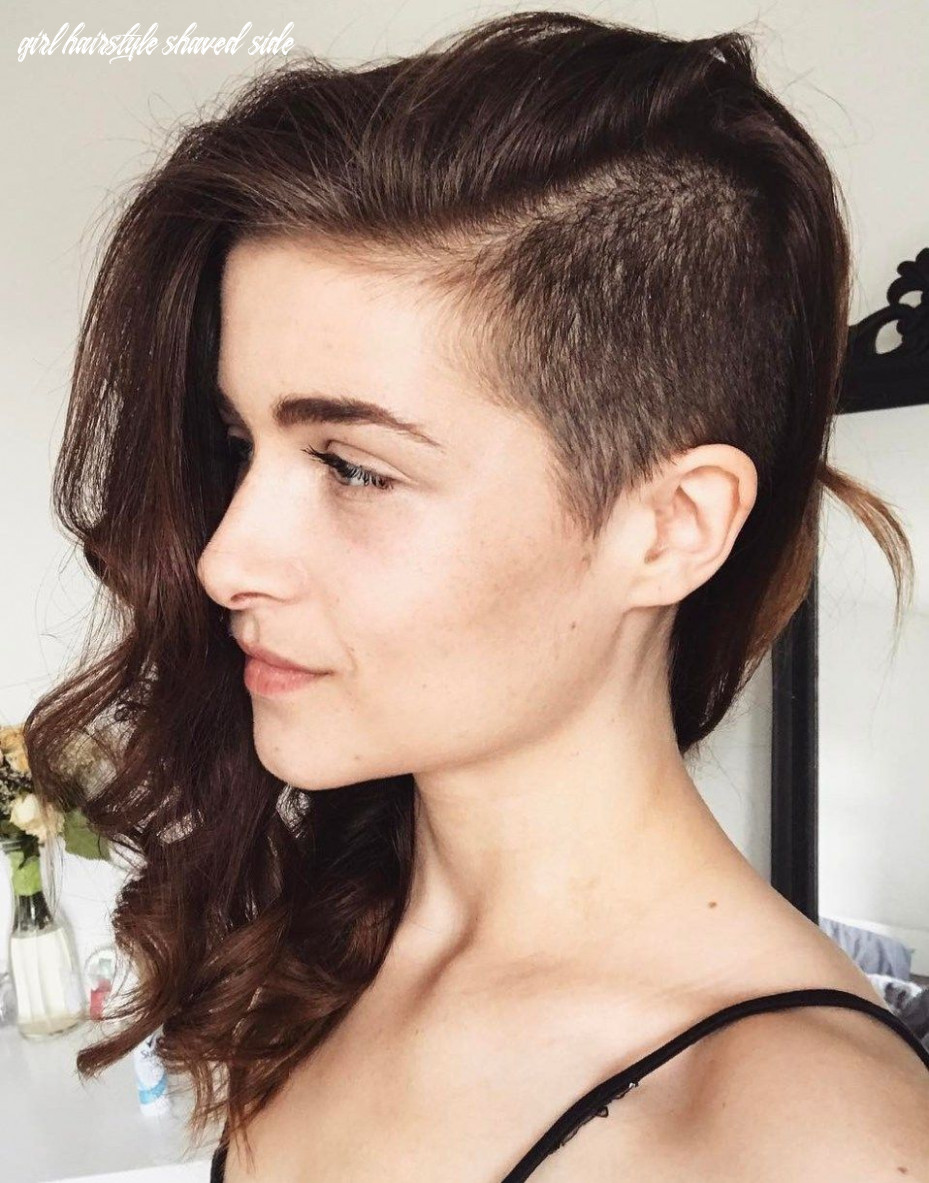 Pin on hair girl hairstyle shaved side
