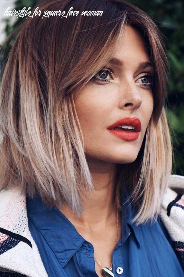 Pin on hair hairstyle for square face woman