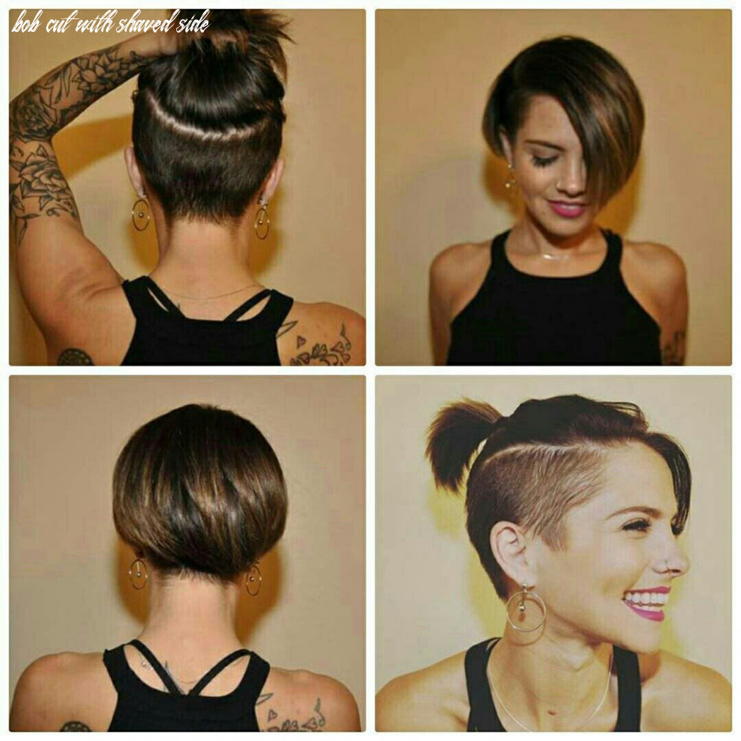 Pin on hair ideas bob cut with shaved side