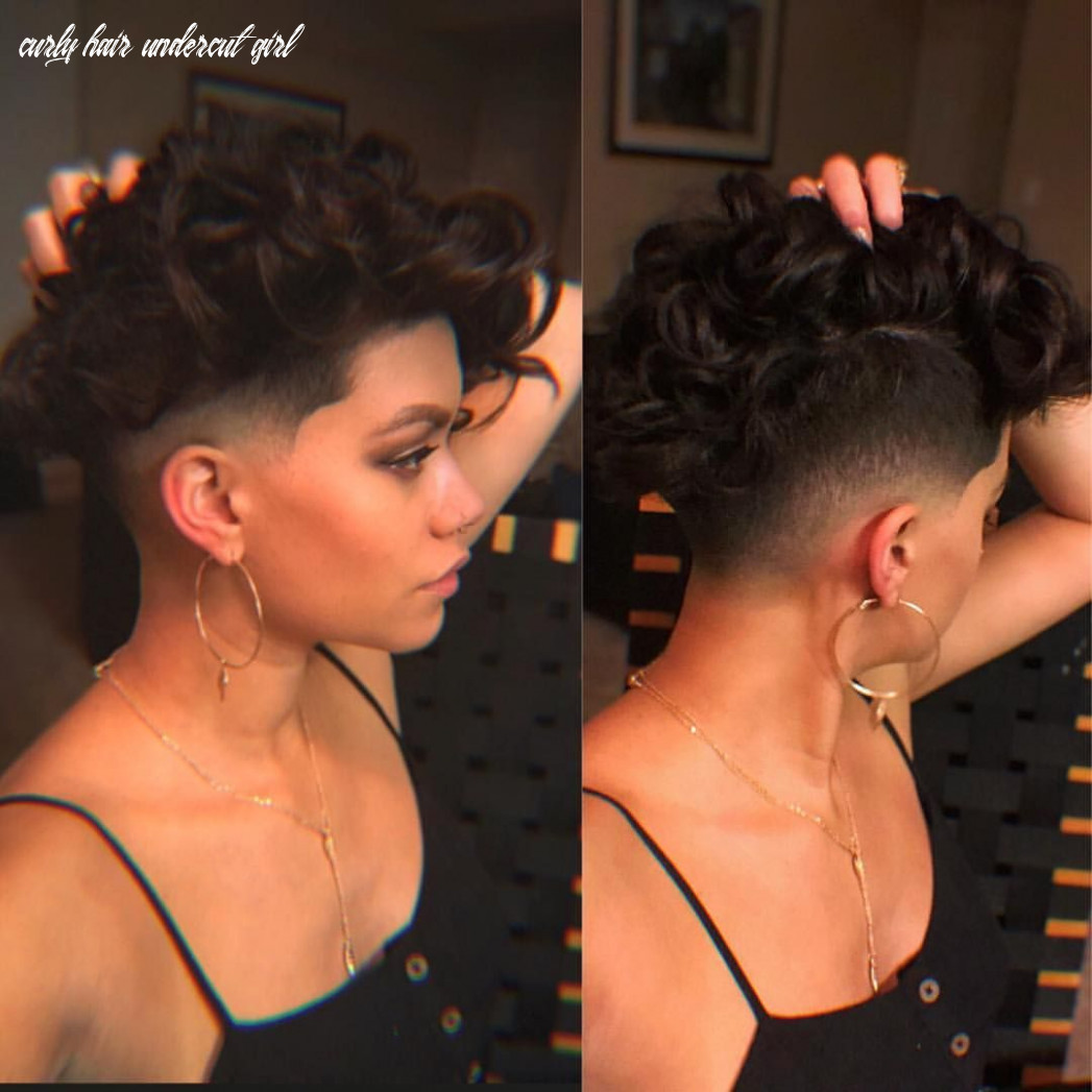 Pin on hair inspiration and ideas curly hair undercut girl