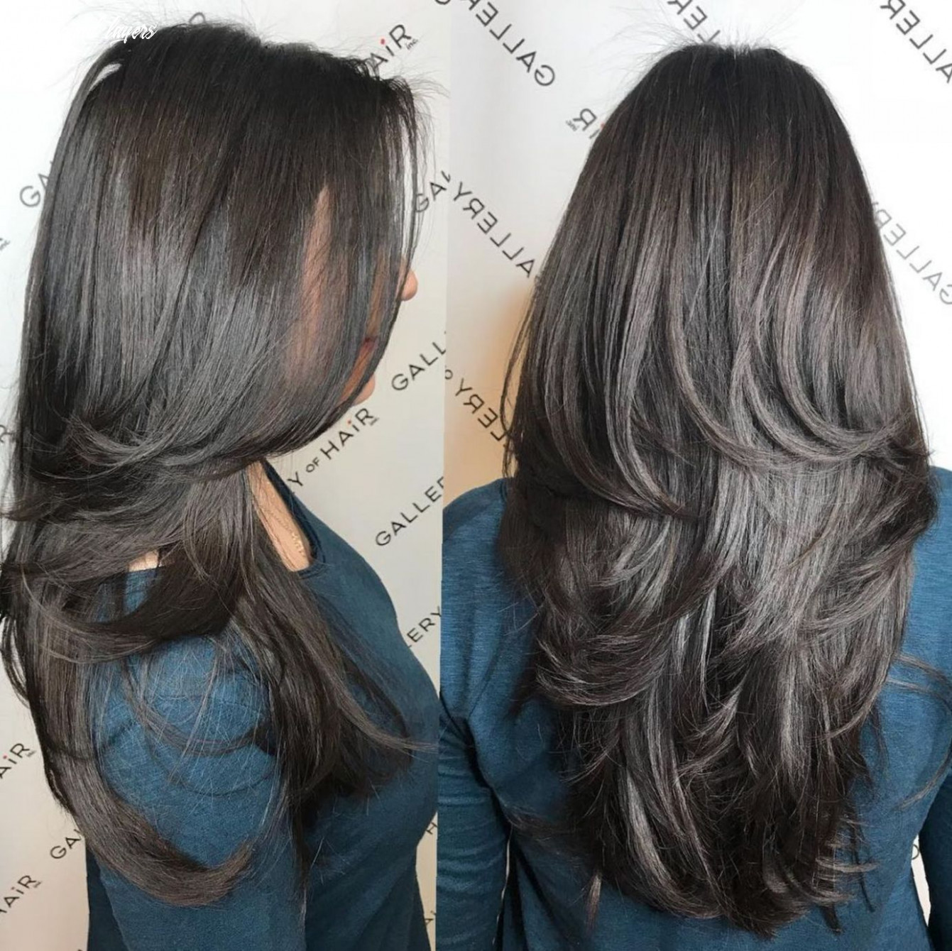 Pin on hair long round layers