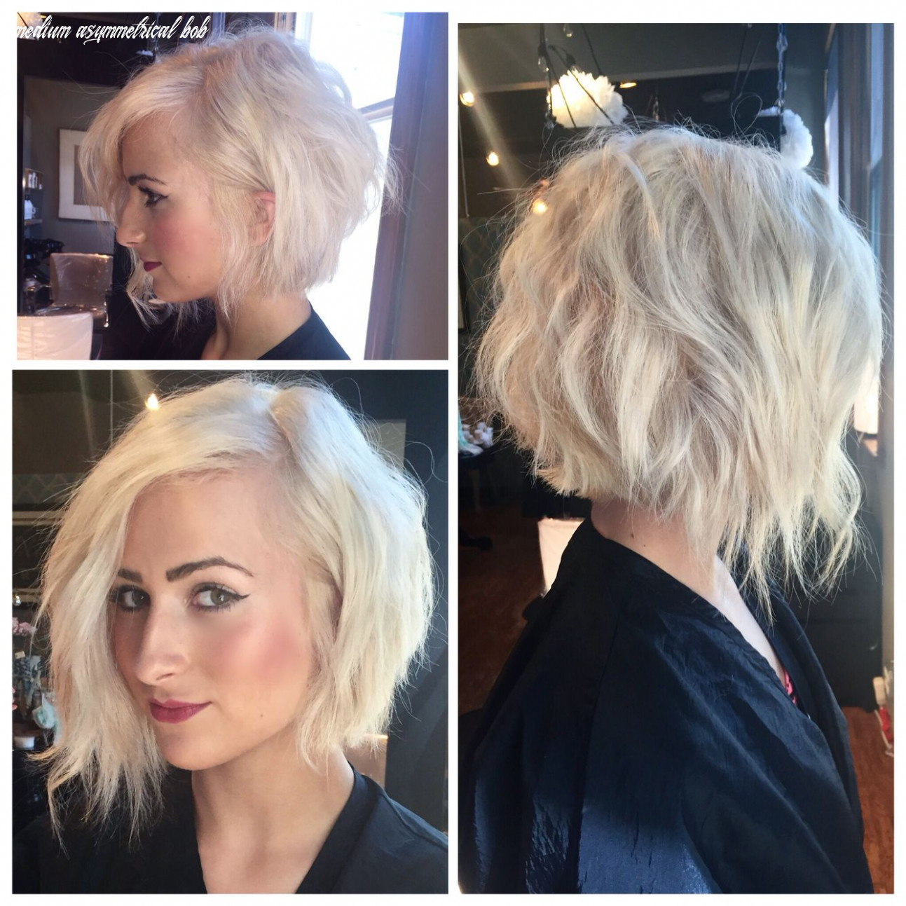 Pin on hair medium asymmetrical bob