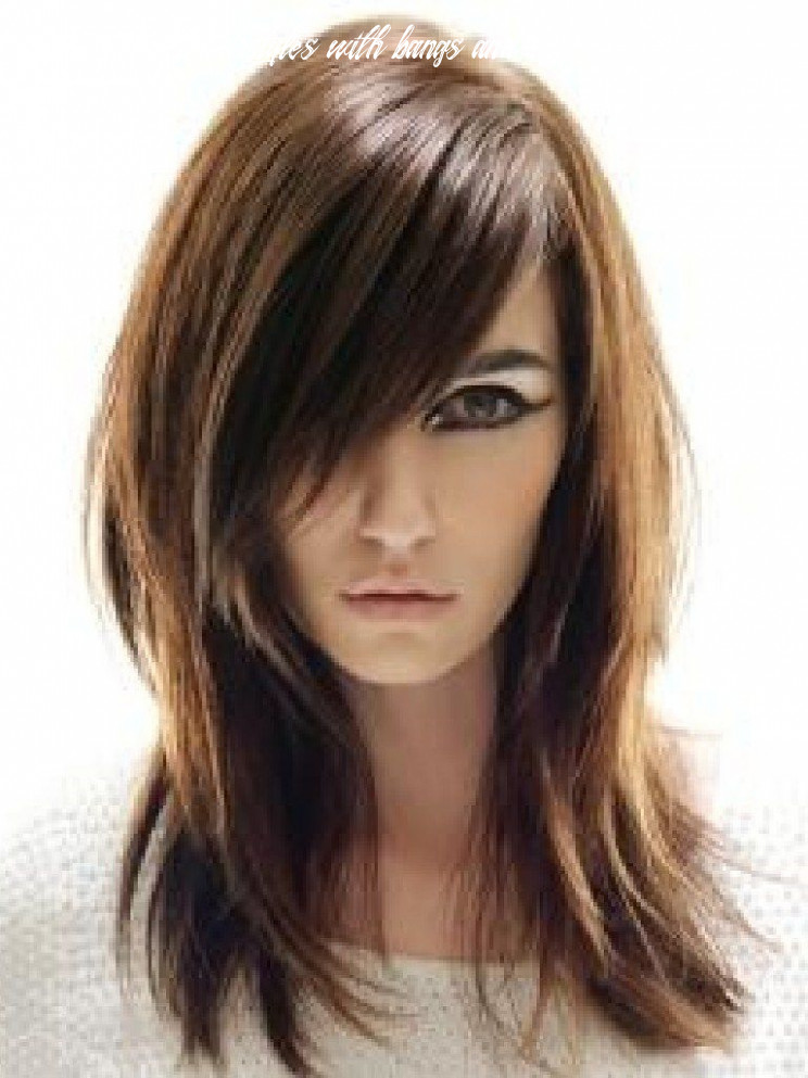 Pin on hair medium length hairstyles with bangs and layers