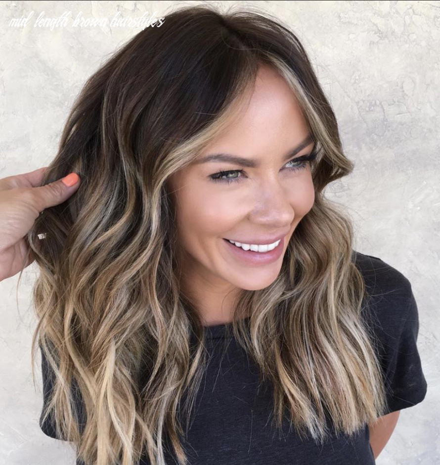 Pin on hair mid length brown hairstyles