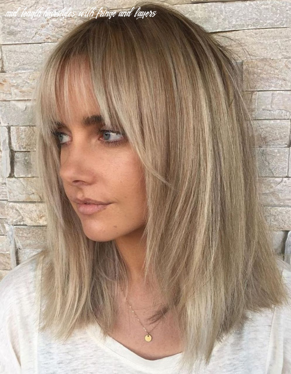 Pin on hair mid length hairstyles with fringe and layers