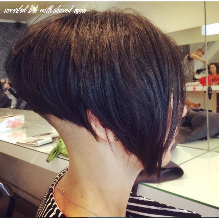 Pin on hair models inverted bob with shaved nape