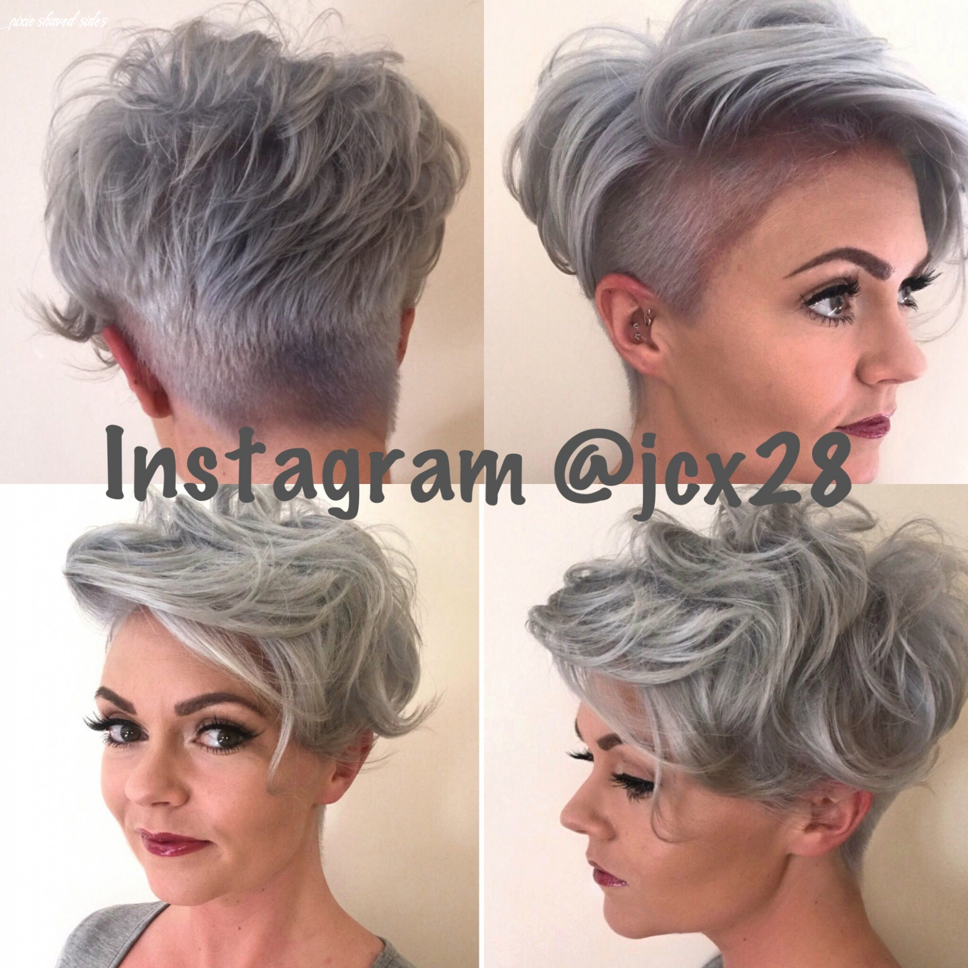 Pin on hair pixie shaved sides