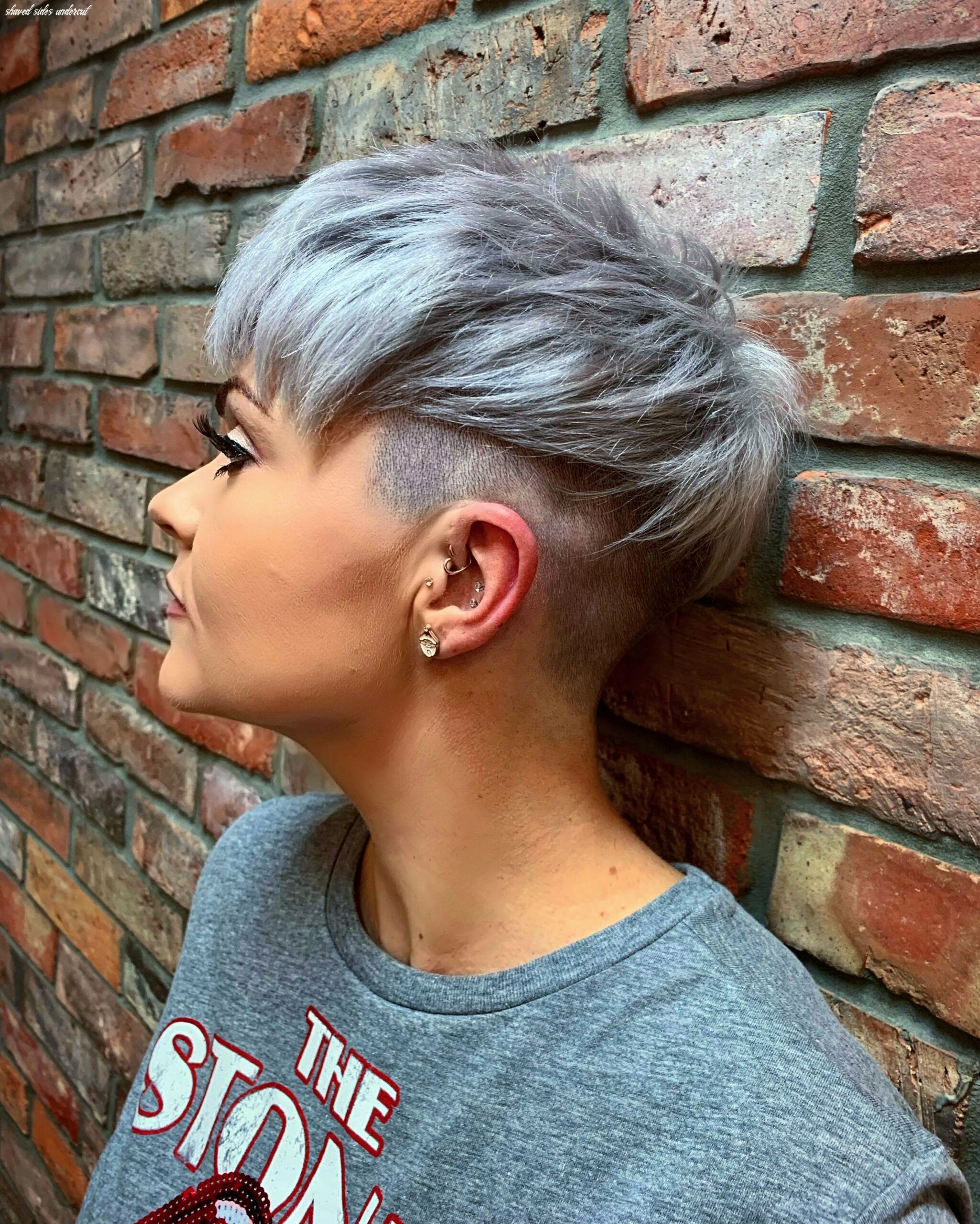Pin on hair shaved sides undercut