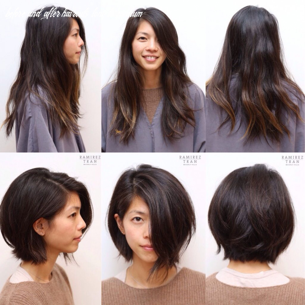 Pin on haircuts and color before and after before and after haircuts long to medium