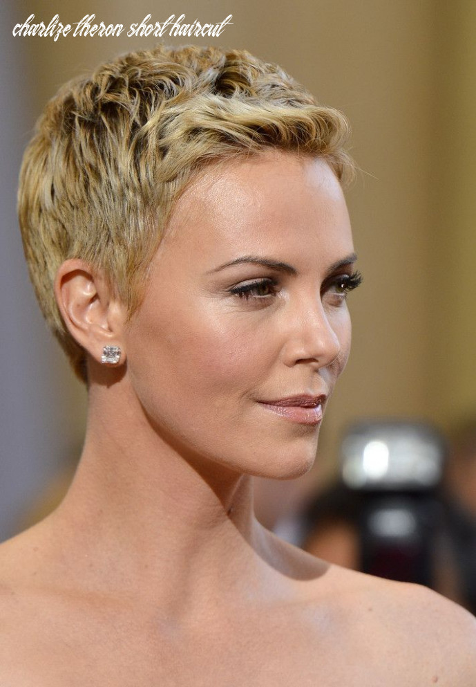 Pin on hairstyles charlize theron short haircut