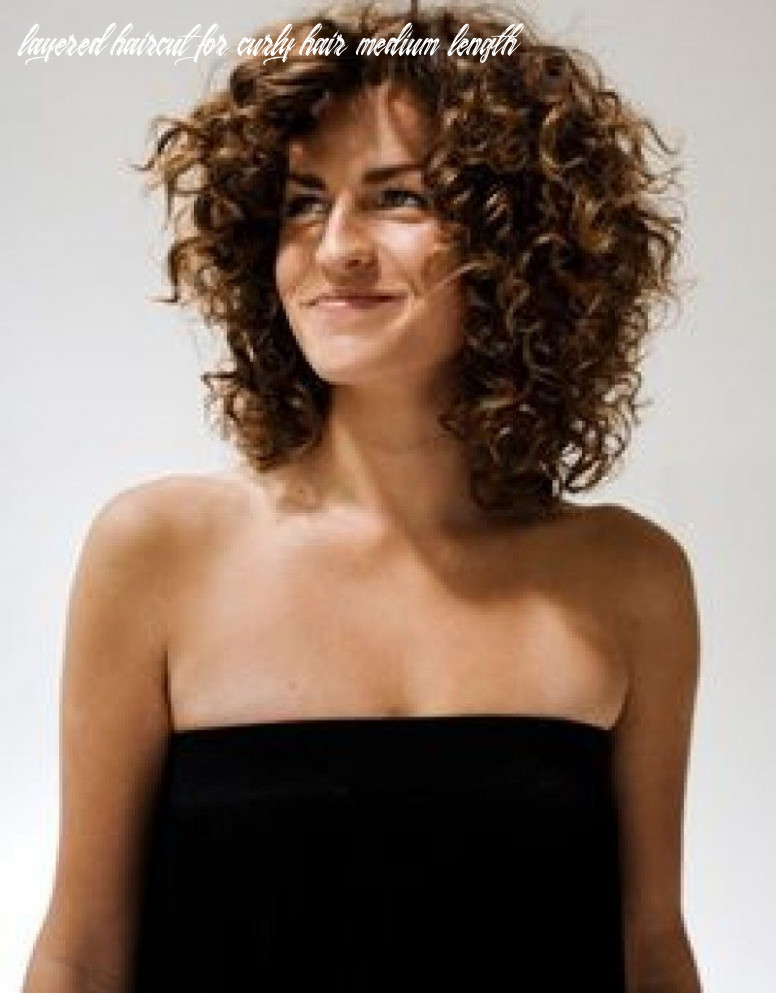 Pin on hairstyles layered haircut for curly hair medium length