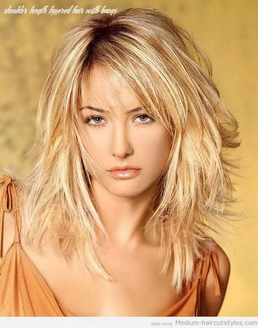 Pin on hairstyles shoulder length layered hair with bangs