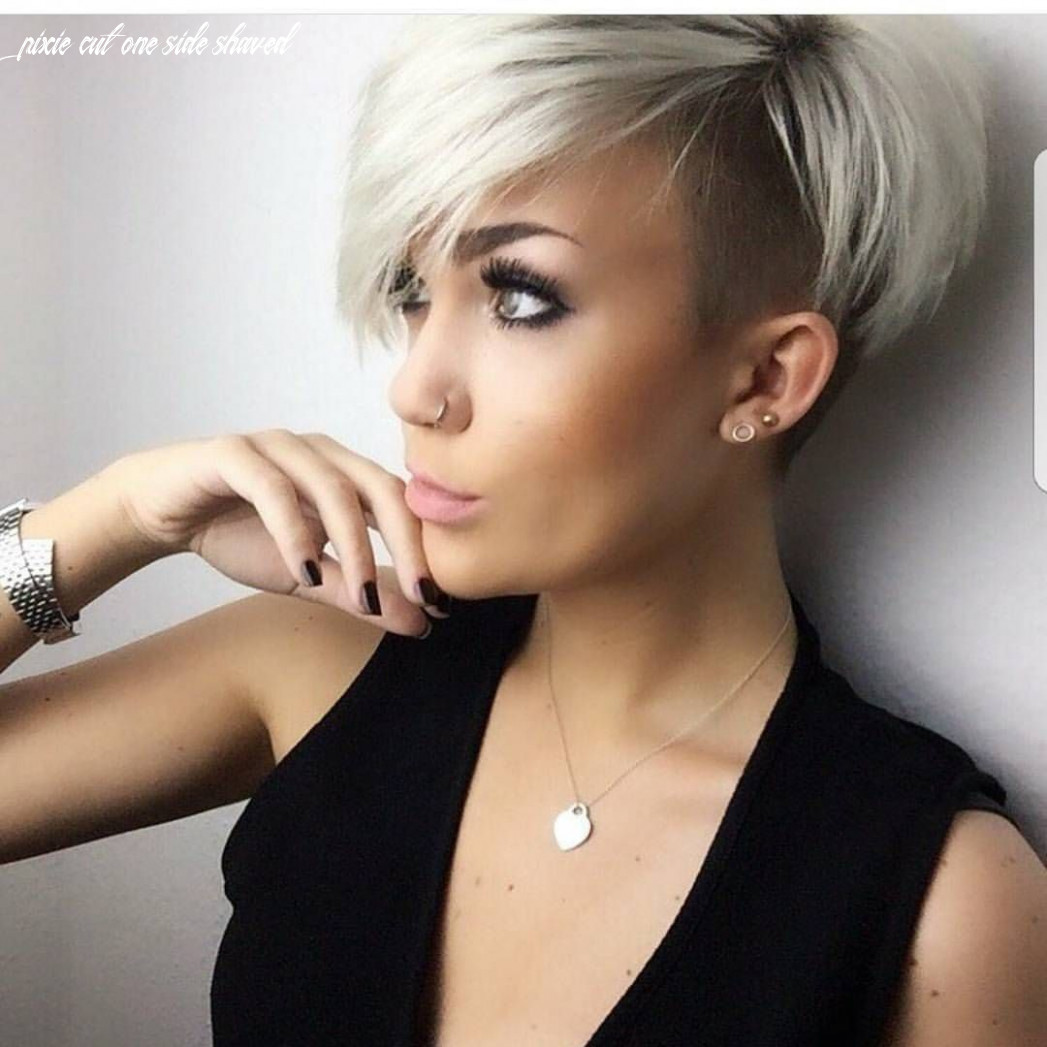 Pin on hairsytles pixie cut one side shaved