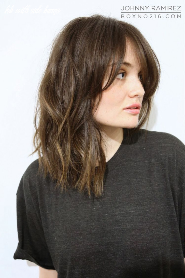 Pin on happy lob with side bangs