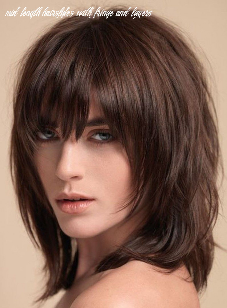 Pin on helpful finds! mid length hairstyles with fringe and layers