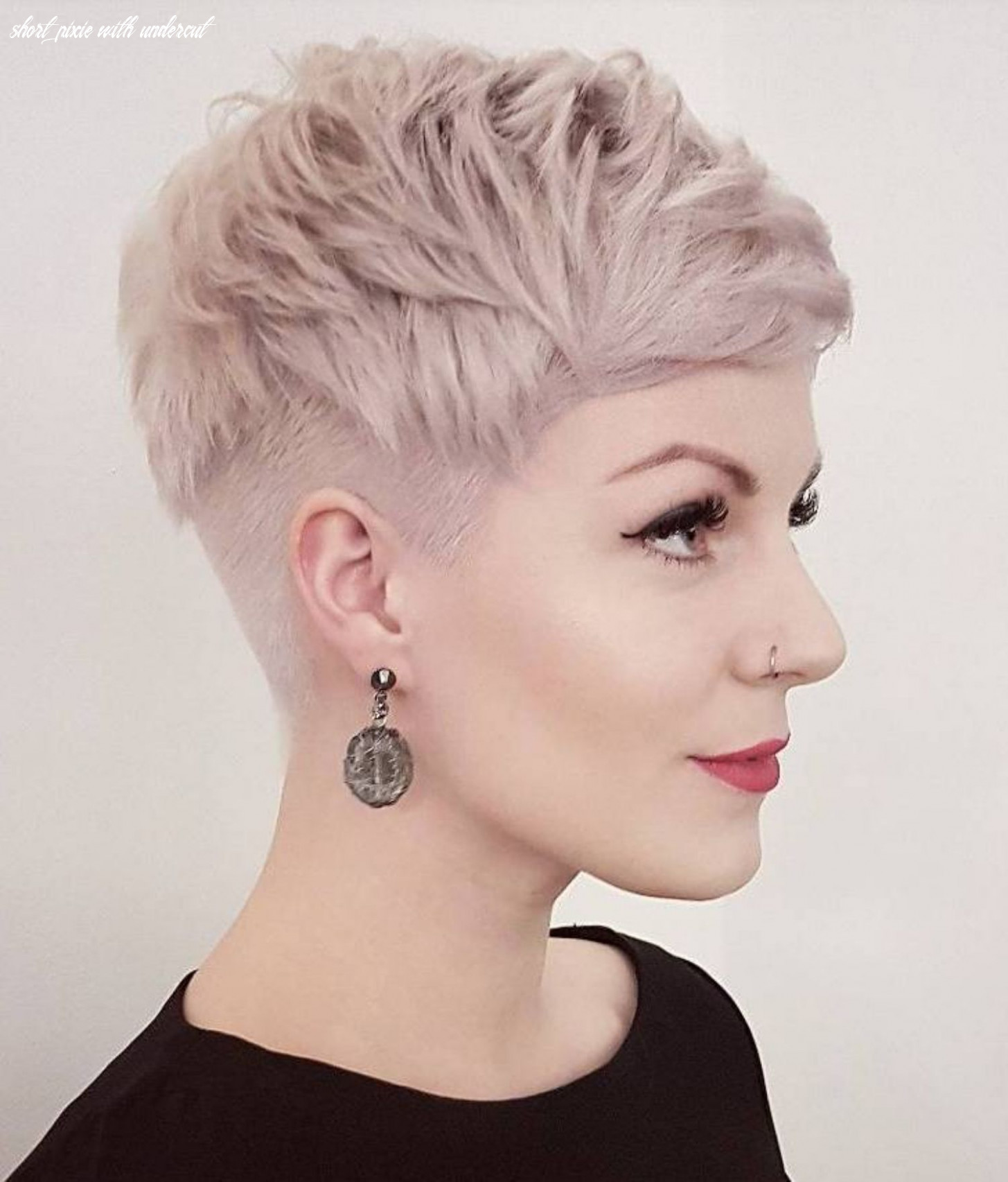 Pin on l hair short pixie with undercut