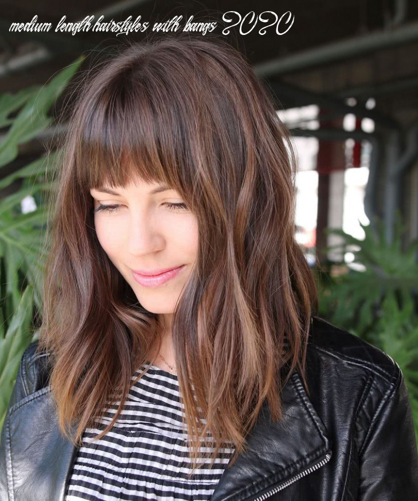 Pin on layered hair medium length hairstyles with bangs 2020