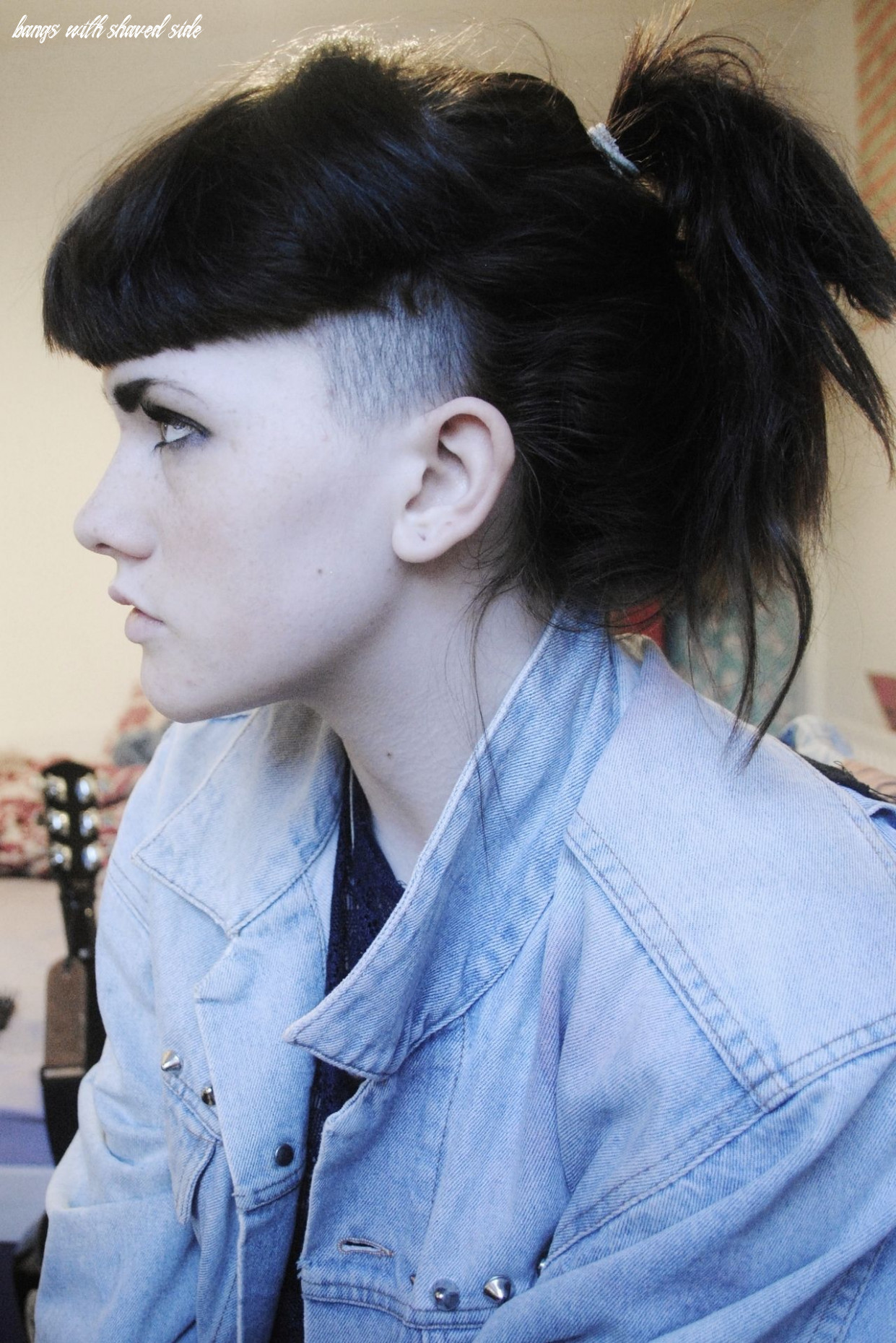 Pin on my next haircut bangs with shaved side