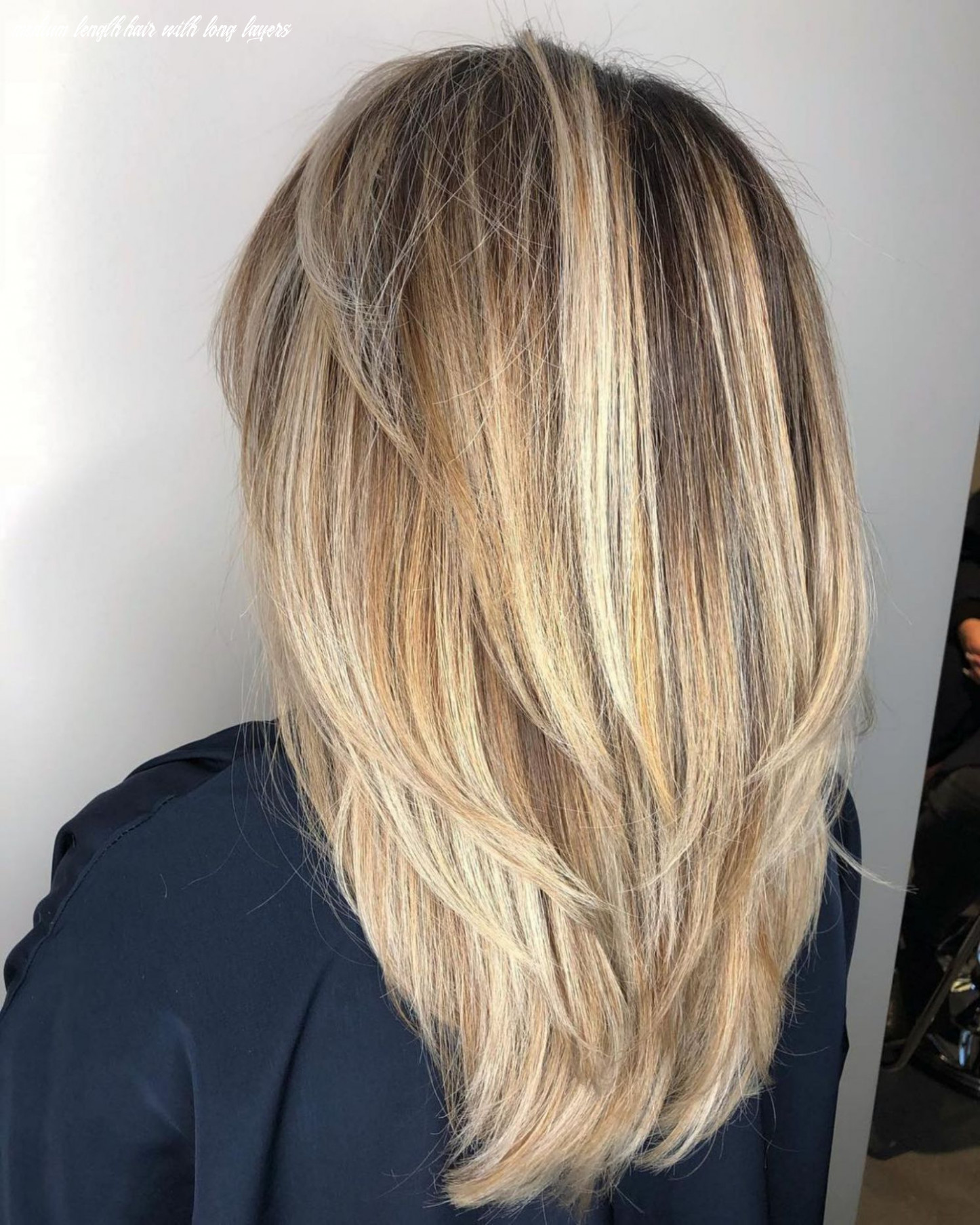 Pin on my style medium length hair with long layers