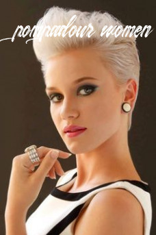 Pin on my style pompadour women