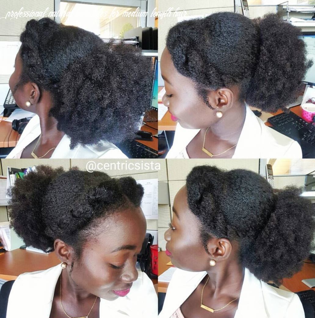 Pin on natural all day professional natural hairstyles for medium length hair