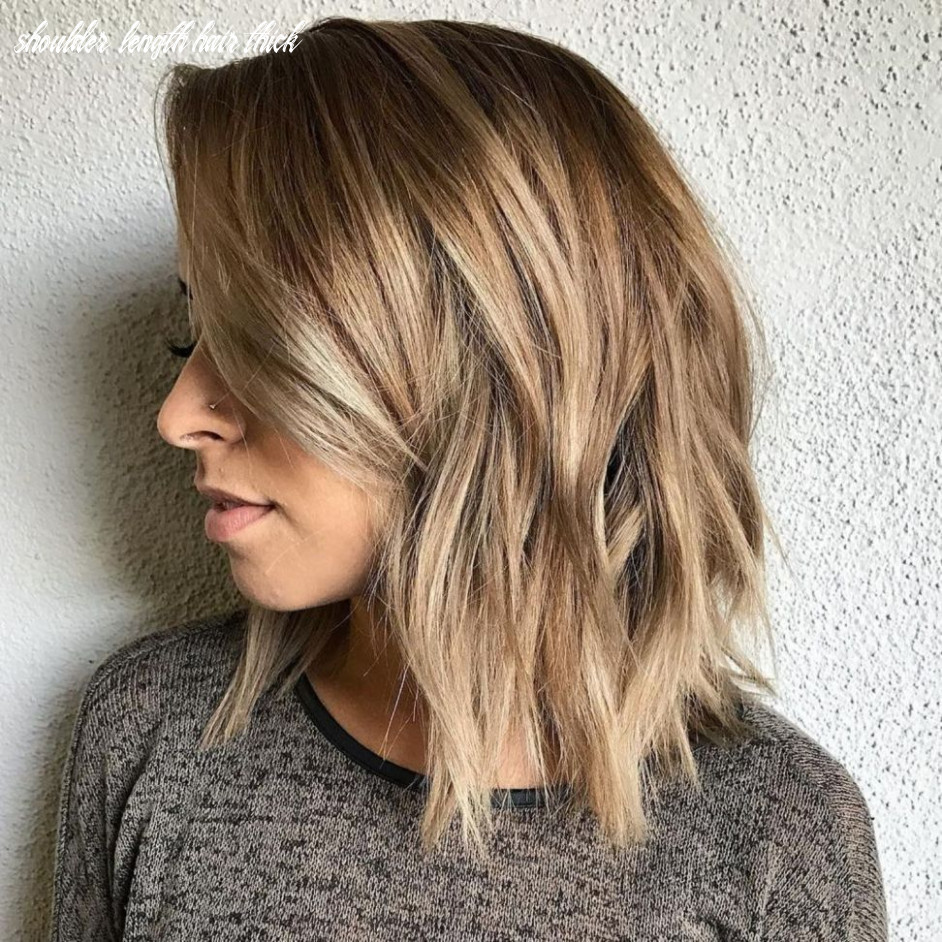Pin on new hair style ideas shoulder length hair thick