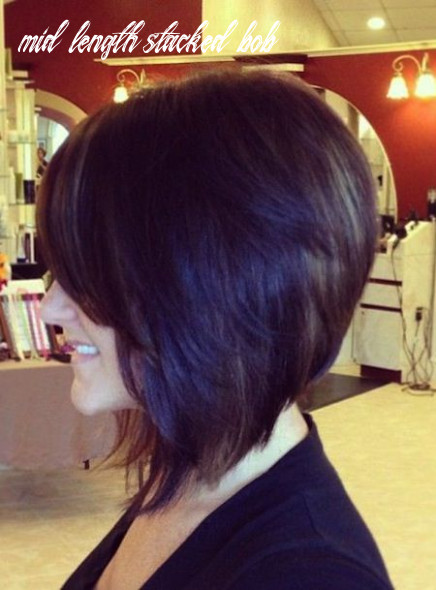 Pin on new hair styles mid length stacked bob