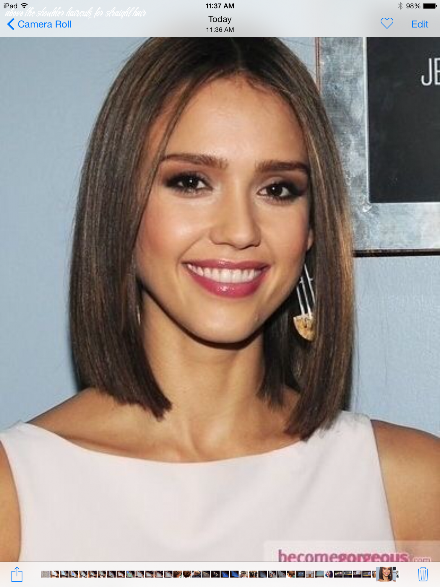 Pin on one length above the shoulder haircuts for straight hair