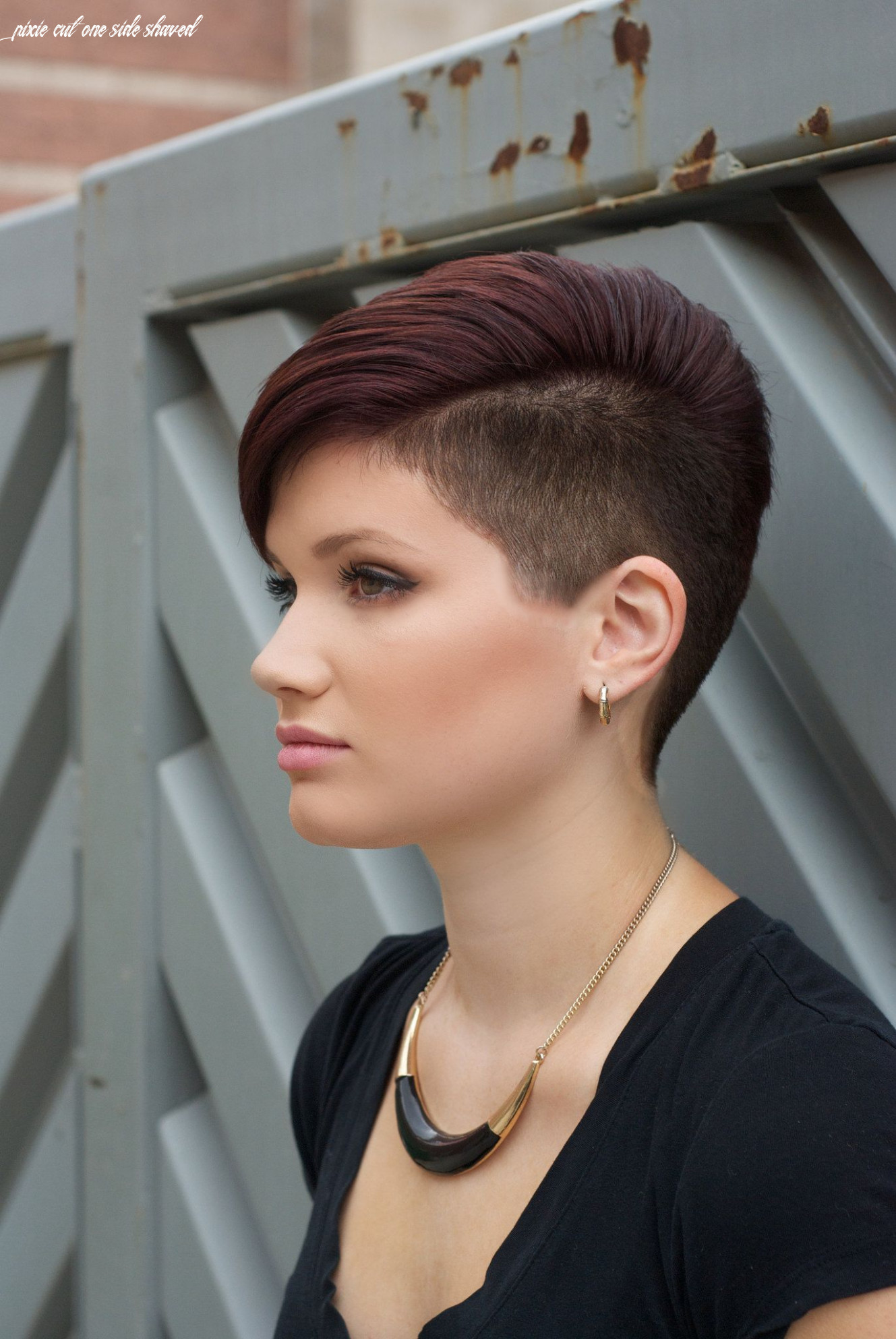 Pin on one side shaved head/half shaved/undercut pixie cut one side shaved