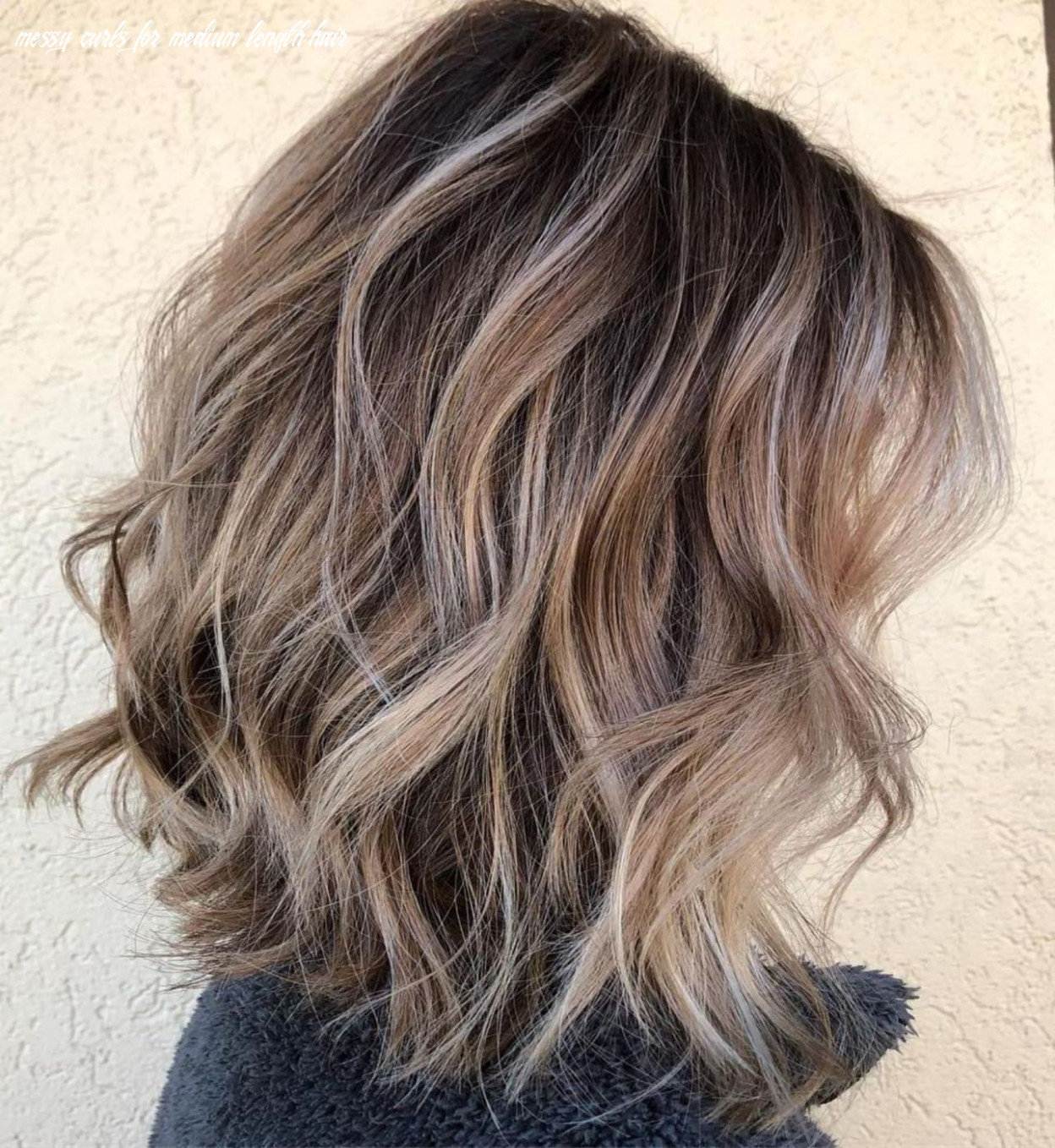 Pin on s t y l e messy curls for medium length hair