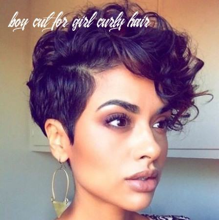Pin on short hair boy cut for girl curly hair