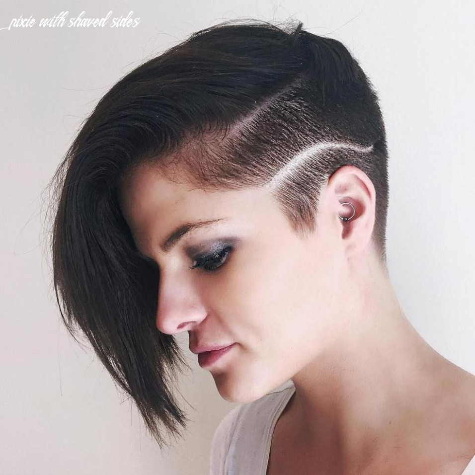 Pin on sidecut pixie with shaved sides