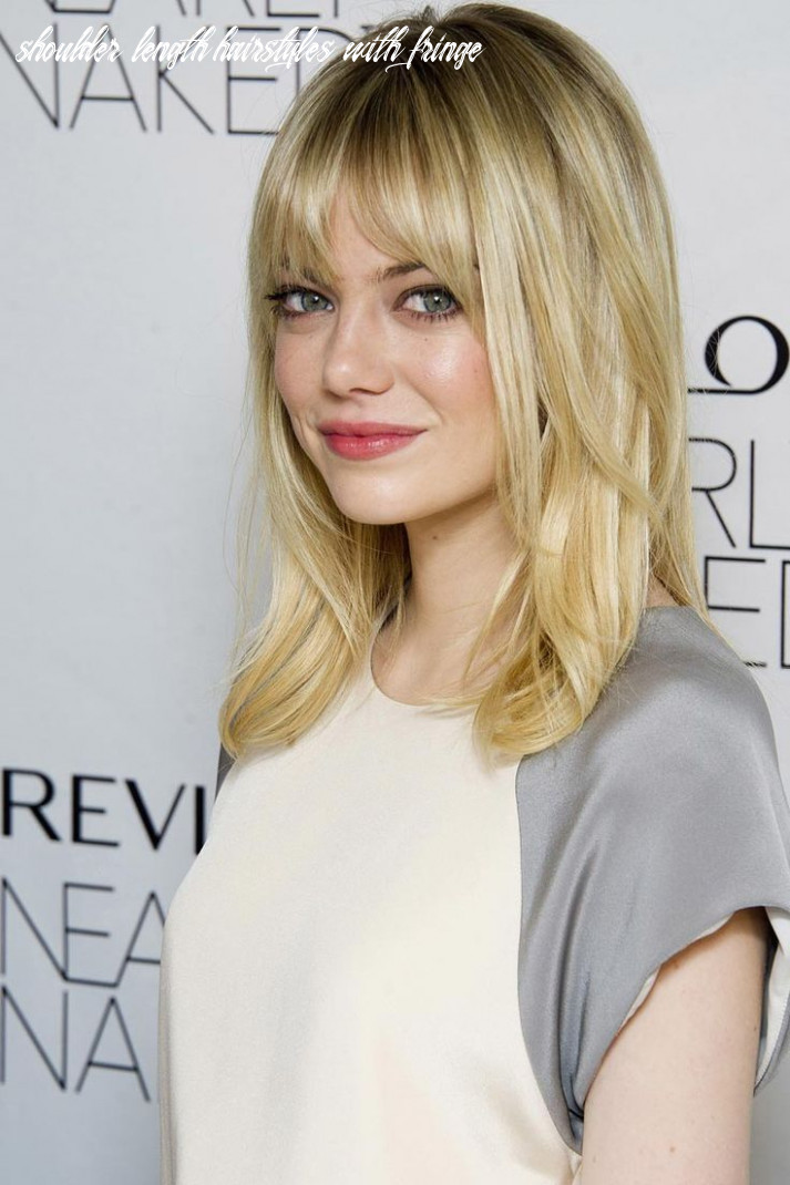 Pin on styling tips shoulder length hairstyles with fringe