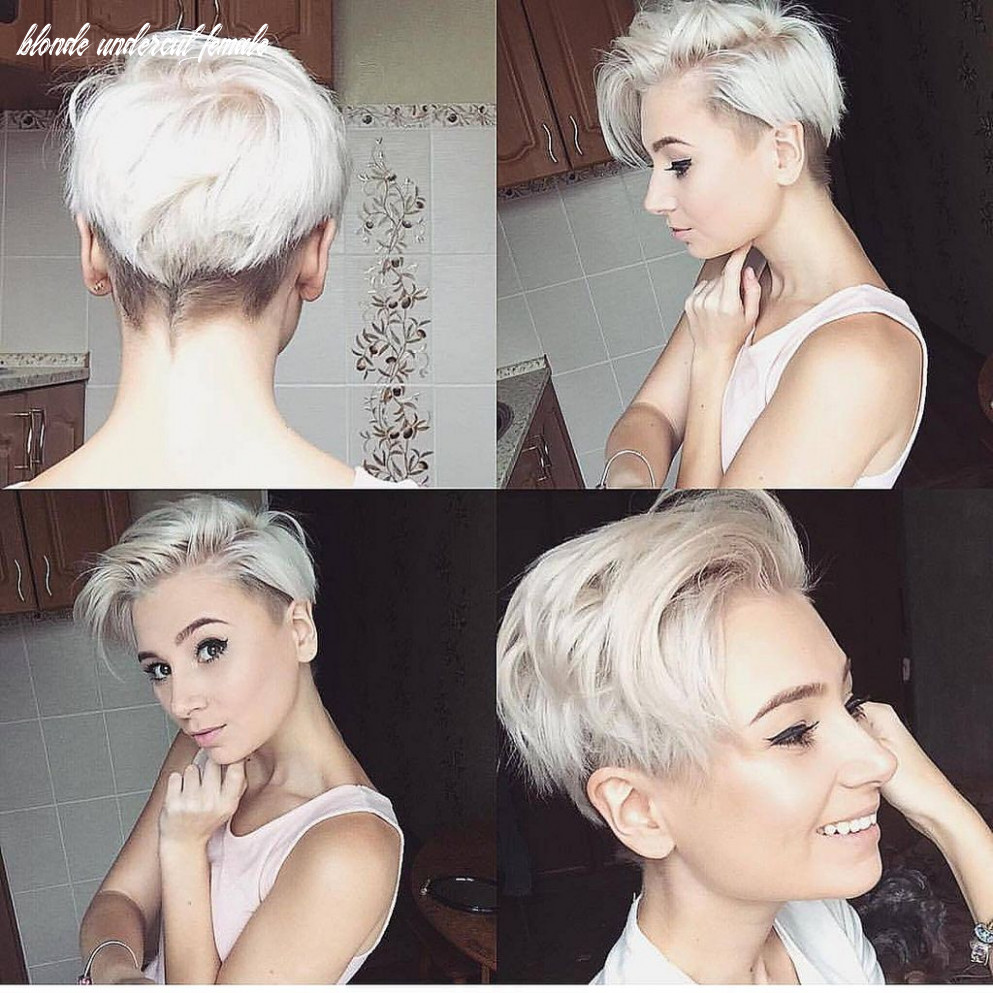 Pin on thinking of chopping opinions please blonde undercut female