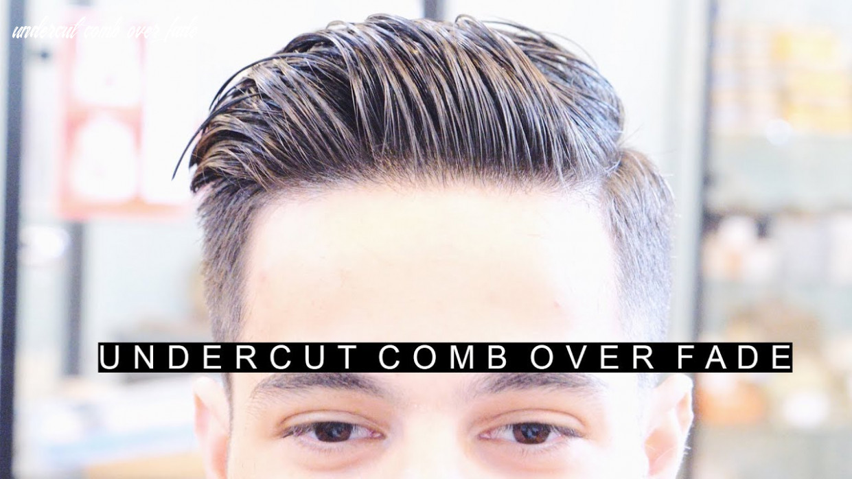 Professional undercut comb over fade hairstyle | the best side part haircut | easy hair for men undercut comb over fade