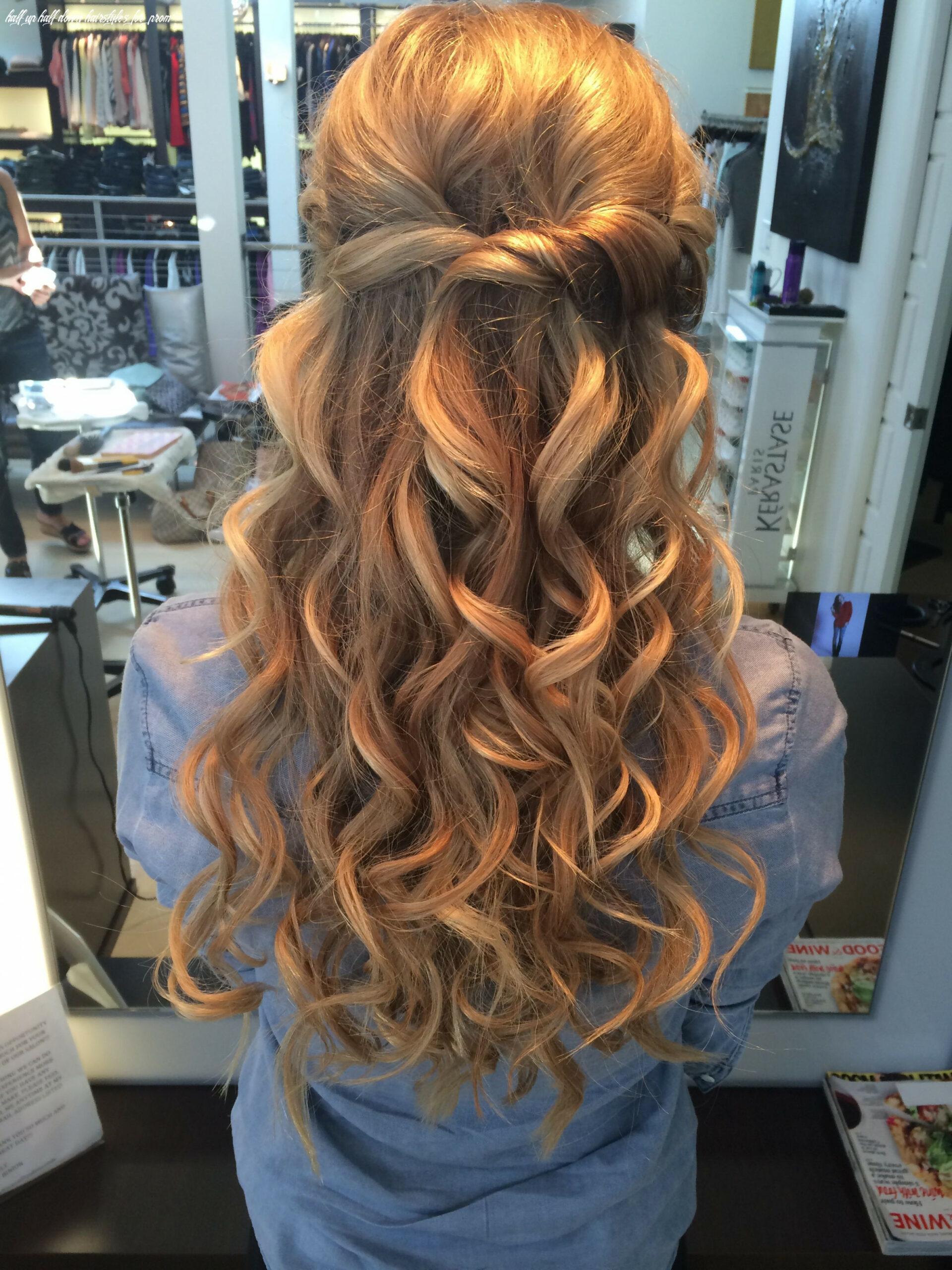 Prom half up/ half down hair | hair styles, prom hairstyles for