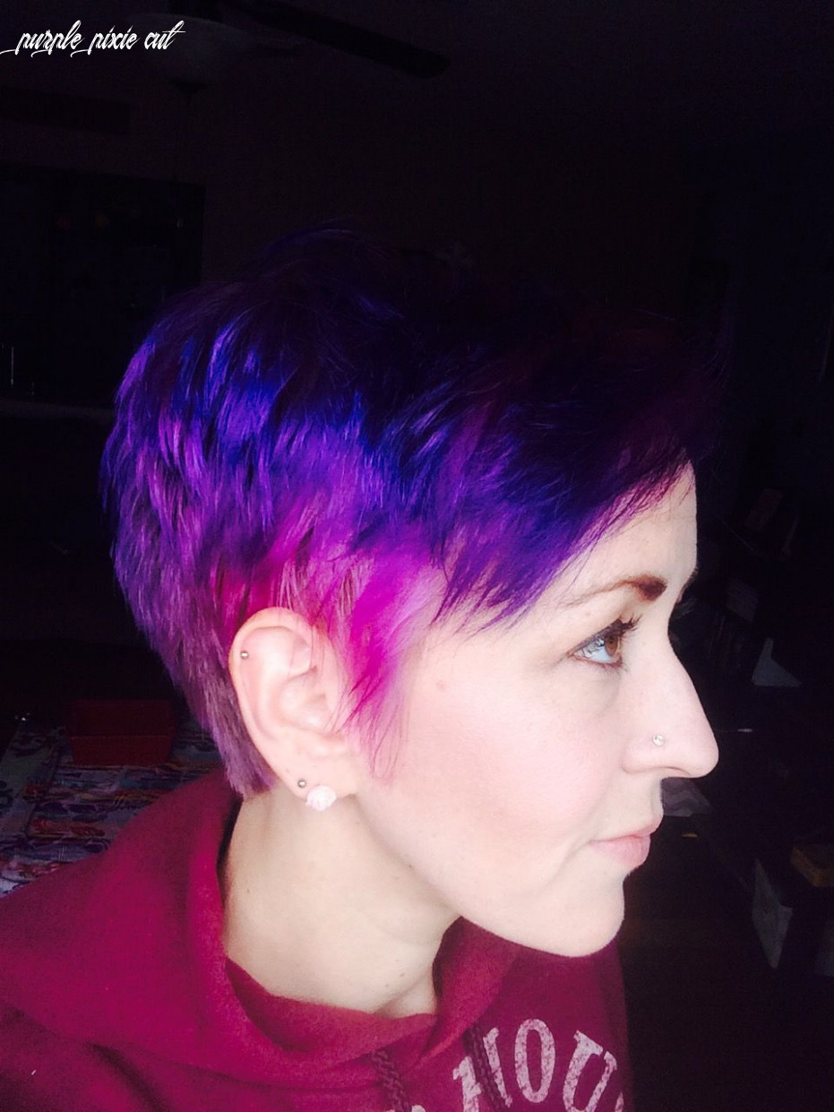 Purple and pink ombré pixie! 💜💖 (with images) | purple ombre