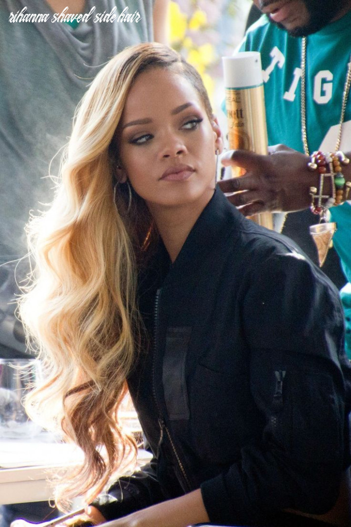 Rihanna shaved sides (with images) | rihanna hairstyles, long hair