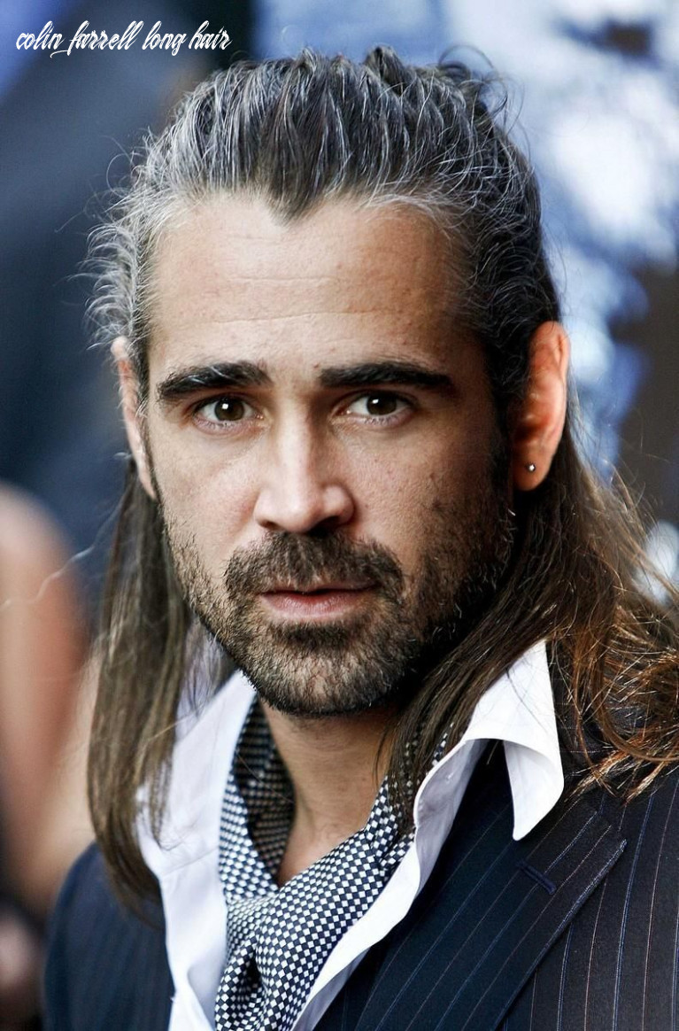 Ronan inspiration, collin farrell with long hair, note the grey