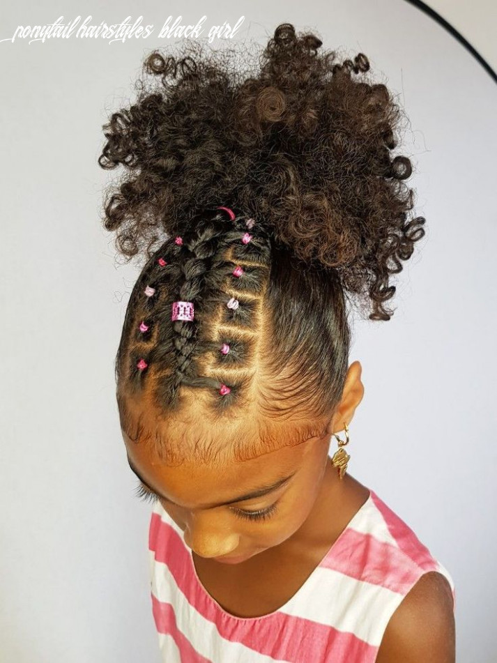 Rubber band little black girl ponytail hairstyles (with images