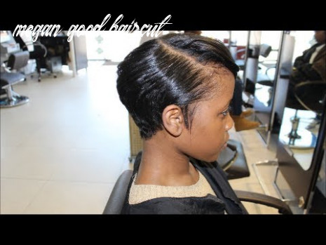 Salon Work| Meagan Good inspired cut... (from natural to relaxed)