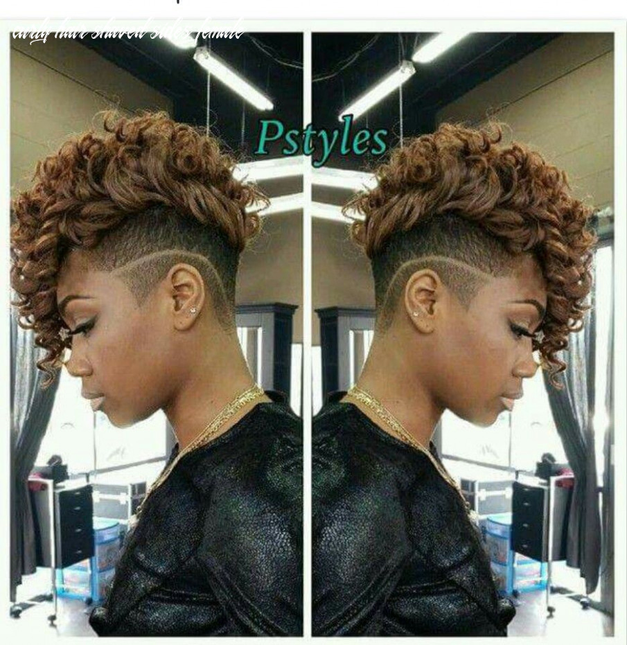 Shaved sides | Short curly weave hairstyles, Natural hair styles ...