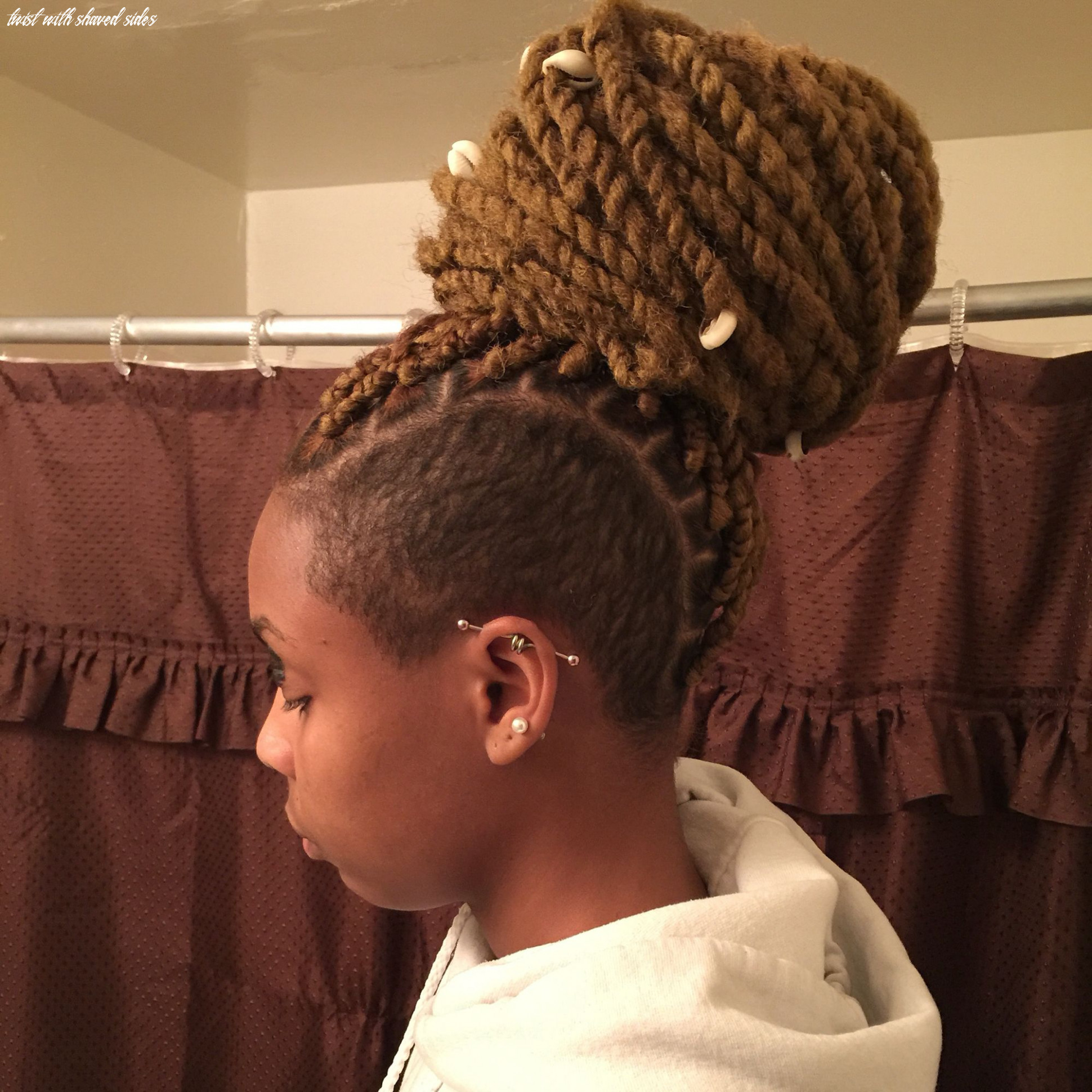 Shaved sides with marley twists | marley hair, braids with shaved