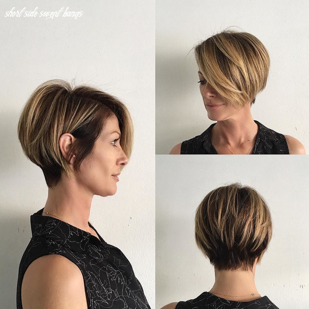 Short Blonde Highlighted Bob with Stacked Layers and Long … | Flickr