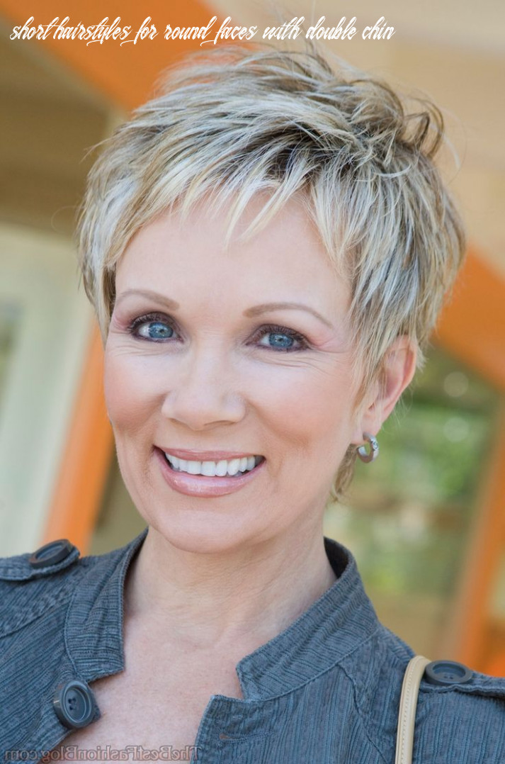 Short hair round face double chin short hairstyles for round faces