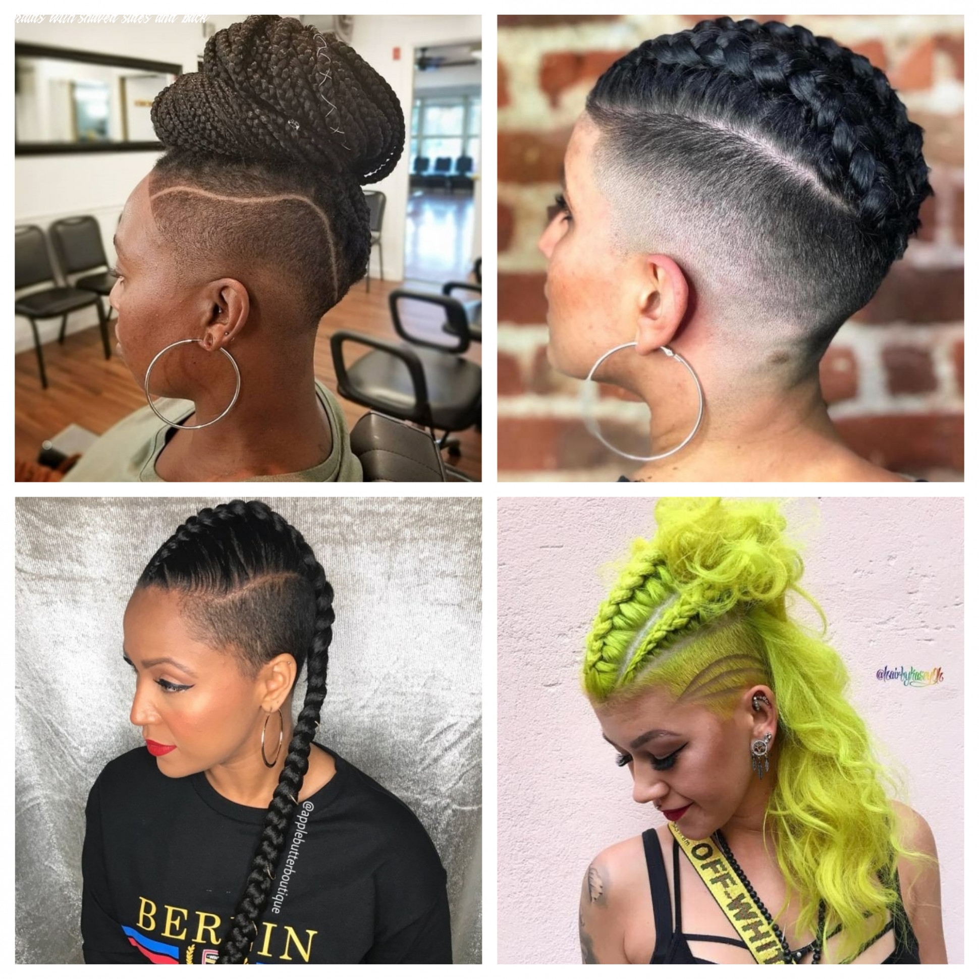 Short hairstyles | 12 haircuts, hairstyles and hair colors braids with shaved sides and back