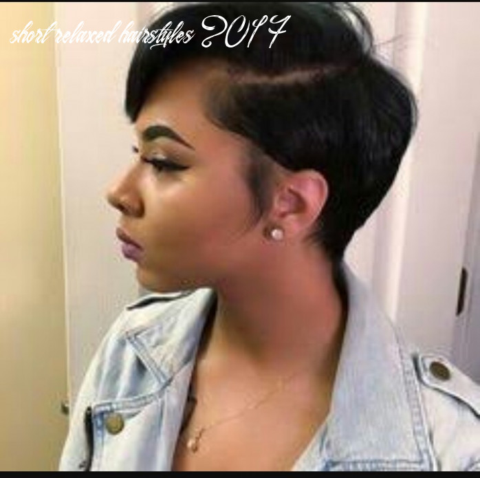 Short hairstyles and haircuts for women with relaxed, natural hair