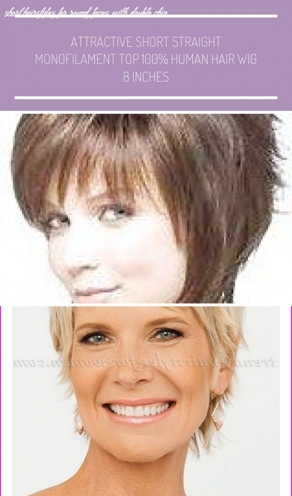 Short Hairstyles For Round Faces Double Chin And Fine Thin Hair ...