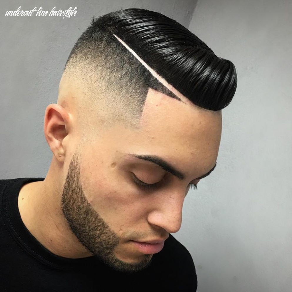 Short mens haircut with line undercut line hairstyle