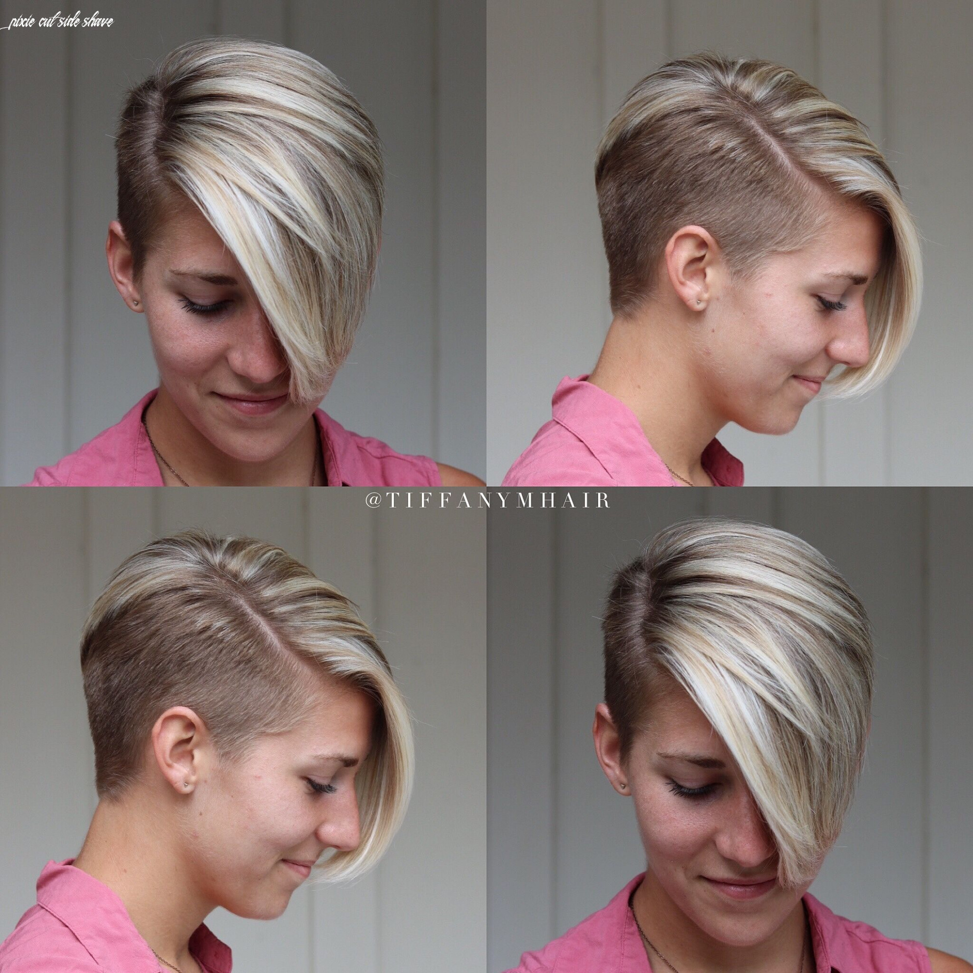 Short side shave | Short shaved hairstyles, Half shaved hair, Very ...